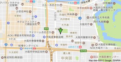 【地図】レジュールアッシュ大阪城WEST