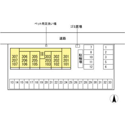 【区画図】ディアコート・フジ