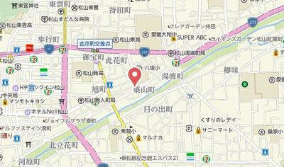 【地図】グランアソシアⅡ
