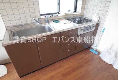 【キッチン】クリスタルパレス東船橋