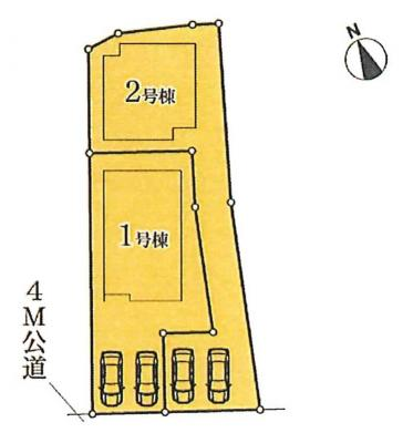 【区画図】名古屋市天白区荒池1丁目907【仲介手数料無料】 新築一戸建て 2号棟