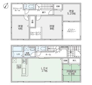 リーブルガーデン防府市田島第5(1号棟)