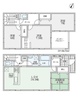 リーブルガーデン防府市田島第5(2号棟)