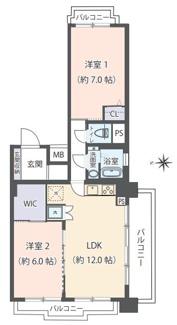 3方角部屋・バルコニーの開放的なお住まいです!