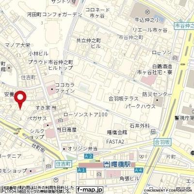 【地図】プラネット市ヶ谷