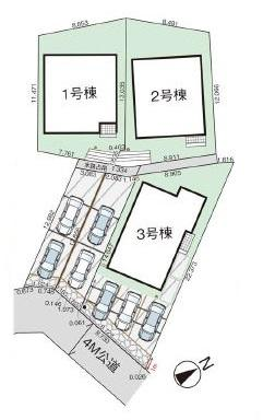 【区画図】南区和田4丁目新築戸建 2号棟