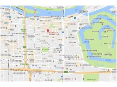 【地図】エステムコート大手前レシェンテ