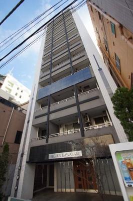 JR東海道線「川崎」駅より徒歩5分の分譲賃貸マンションです。