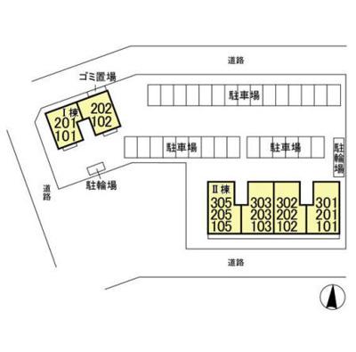 【区画図】Malica Court (マリカコート) Ⅱ