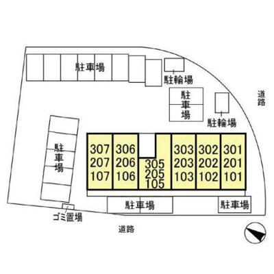 【区画図】D-Room AKI