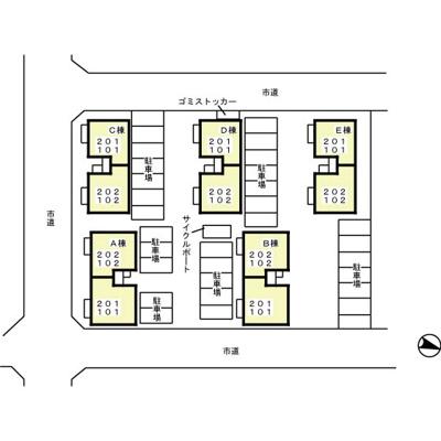 【区画図】ブルーノート ABCDE