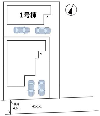 【区画図】姫路市網干区北新在家/全2棟/新築戸建て