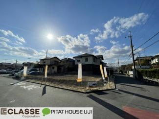 【前面道路含む現地写真】久御山町栄1丁目B号地 売土地 建築条件無し