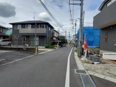 【前面道路含む現地写真】大野町二丁目 2棟新築分譲(残り1棟)