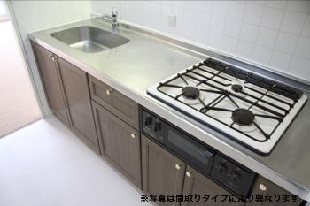 【キッチン】ホワイトマンション