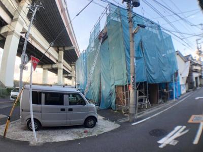 【前面道路含む現地写真】葛飾区堀切4丁目新築戸建て【全2棟】