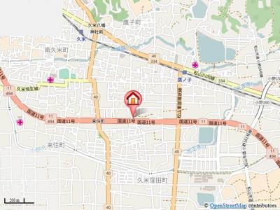 【地図】リューレント久米・