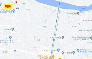 ■カーナビ:熊本県熊本市南区薄場2丁目2-16付近
