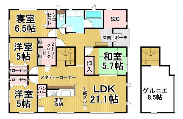 クレイドルガーデン早良区野芥第16 平屋建4LDK オール電化住宅