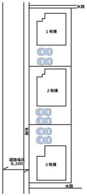 【区画図】姫路市余部区上余部/全3棟