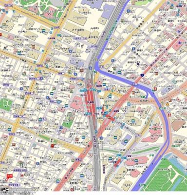 【地図】ガーラ芝御成門
