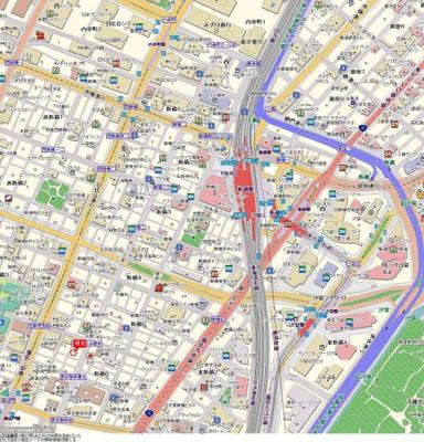【地図】トーシンフェニックス新橋