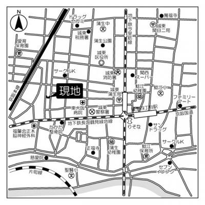 【地図】フォルム城東中央