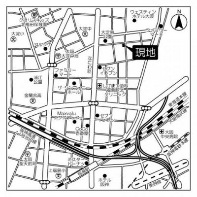 【地図】アスタ・ラ・ビスタ新梅田