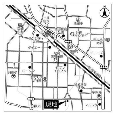 【地図】リエス池田満寿美町