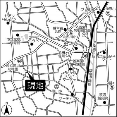 【地図】グリーンハイツ夙川
