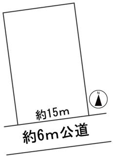 【区画図】57383 岐阜市旦島土地
