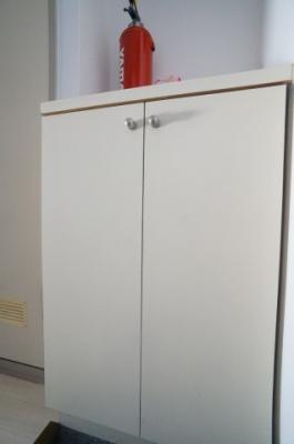 下駄箱があり、玄関を広々とご使用いただく事が出来ます。 ※同じ間取りの301号室の写真になります。