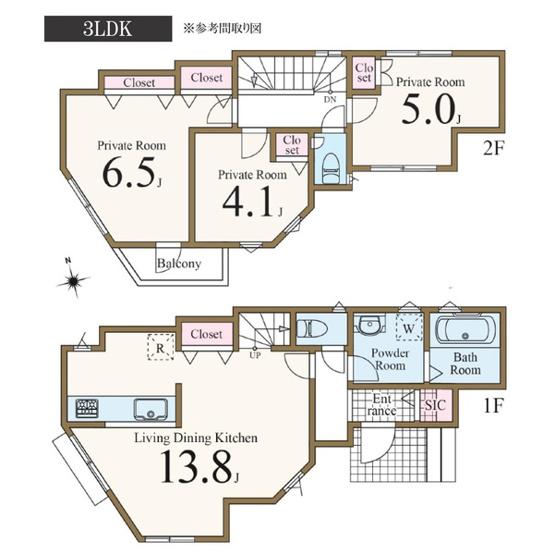 土地面積106.97平米 建物面積71.00平米 3LDK! 周辺は閑静な住宅地で住環境良好です。