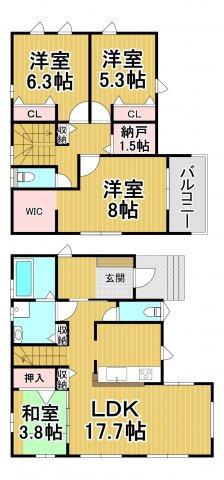 デザイン住宅「FIT」糸島市浦志2丁目1期 4LDK