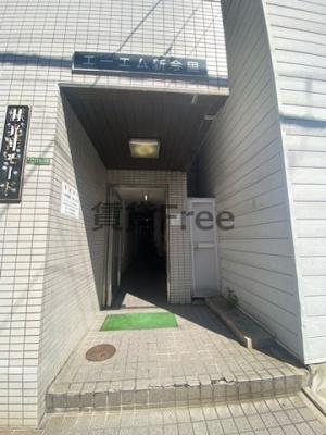 【エントランス】エーエム新今里 仲介手数料無料