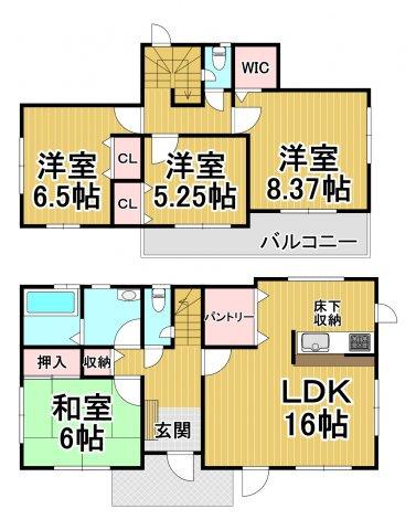 グラファーレ糸島市加布里2期 オール電化住宅4LDK