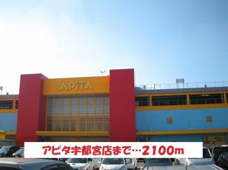 アピタ宇都宮店まで2100m