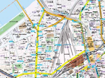 【地図】プレジオ中津