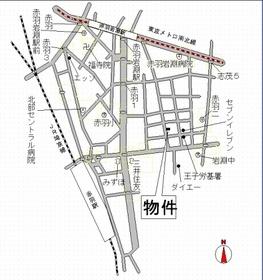 【地図】ファインクレスト赤羽