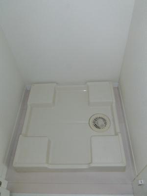 防水パン付きの洗濯機置場です。