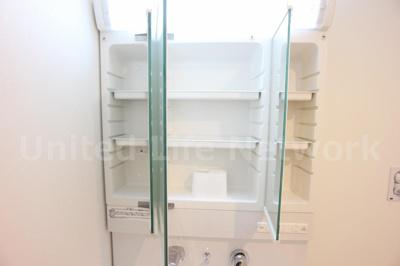 三面鏡付き独立洗面台