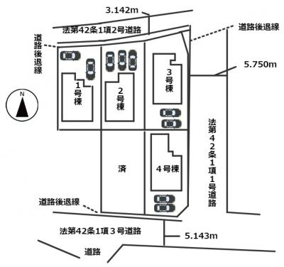 【区画図】姫路市勝原区大谷 3期/全5棟