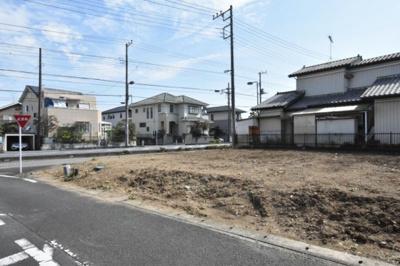 【前面道路含む現地写真】鴻巣市大間 売地