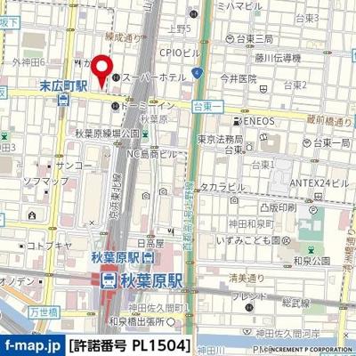 【地図】スカイコート秋葉原