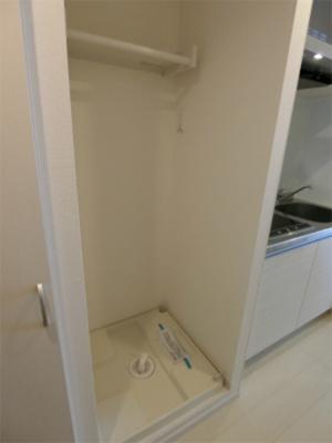 防水パン付き洗濯機置場