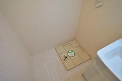 基本ですね室内洗濯機置き場です