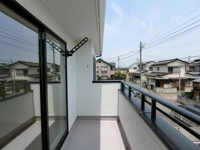 【バルコニー】土浦市右籾8期 新築戸建(全1棟)