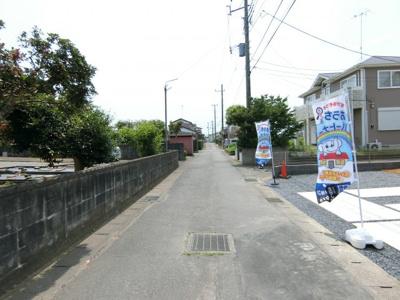 【前面道路含む現地写真】土浦市右籾8期 新築戸建(全1棟)