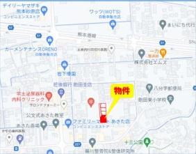 ■カーナビ:熊本県熊本市南区砂原町459-7付近