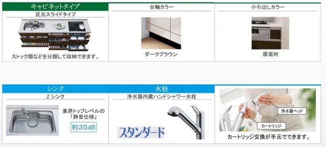 レンジ下やキッチンカウンターの下部は、調理器具や調味料などがすっぽり収まり、出し入れも簡単。